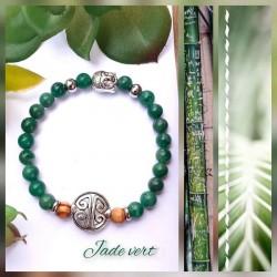 Bracelet jade vert Symbole...