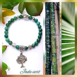 Bracelet jade vert Arbre de...