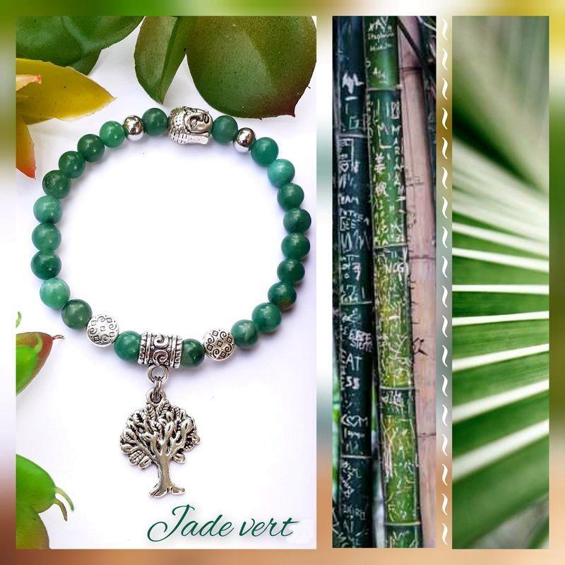 Bracelet jade vert Arbre de Vie