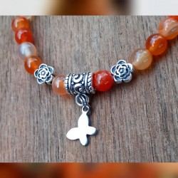 Bracelet cornaline Papillon