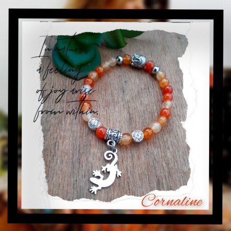 Bracelet Cornaline Gecko