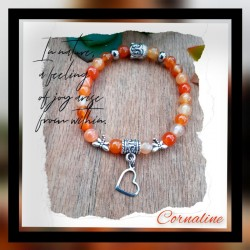 Bracelet Cornaline Coeur