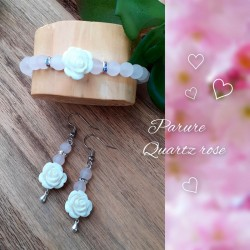 Ensemble Quartz rose, Rose...