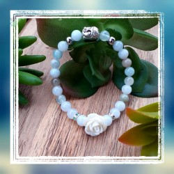 Bracelet aigue-marine rose...