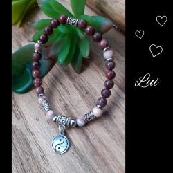 Ensemble bracelets duo de Jaspe, Yin & Yang