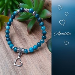 Bracelet Apatite, Coeur