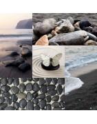 Bracelets artisanaux, fait main, en obsidienne naturelle