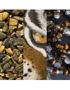 Colliers artisanaux, fait main, en oeil de tigre