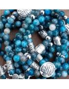Bracelets artisanaux, fait main, en apatite